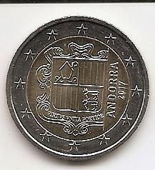 Андорра 2 евро 2017 Регулярная