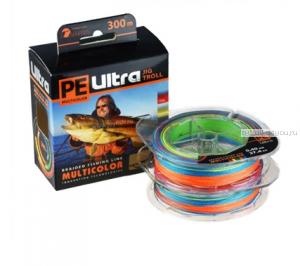 Леска плетеная Aqua Ultra Multicolor Jig Troll 150 м / цвет: многоцветный