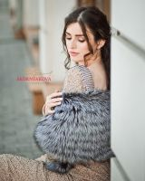 Накидка на вечернее платье из меха