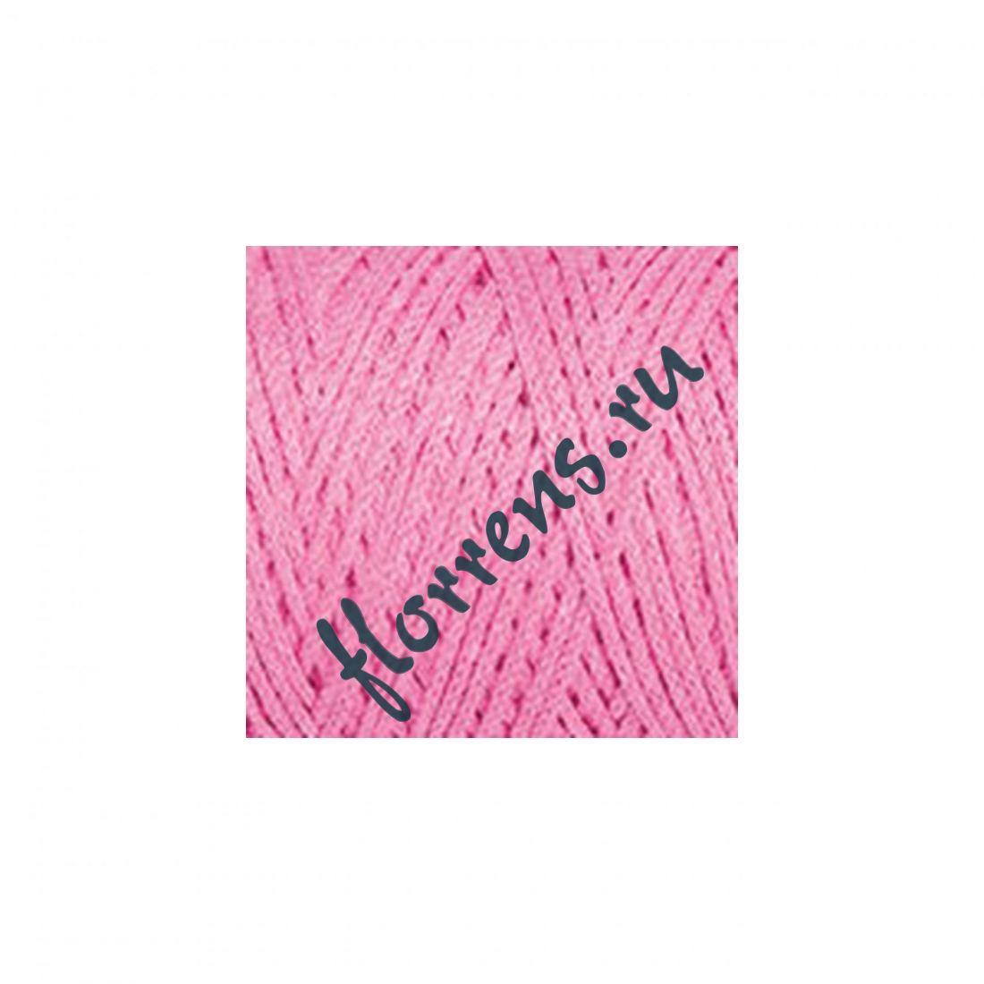 Пряжа Yarnart Macrame cotton / 789 ярко-розовый