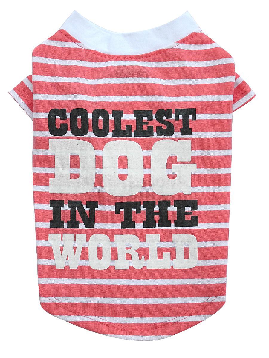 Майка DoggyDolly (Догги Долли) розовая полоска