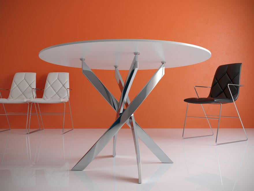 Стол обеденный KENNER R1000 стекло
