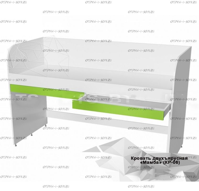 Кровать-чердак Мамба КР-06 BTS (1932х848х1204)