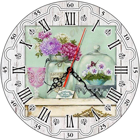 Часы деревянные ЛАВАНДА ПРОВАНС ЧС-02.12