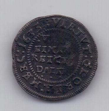 1/8 талера 1635 года Шлезвиг - Гольштейн