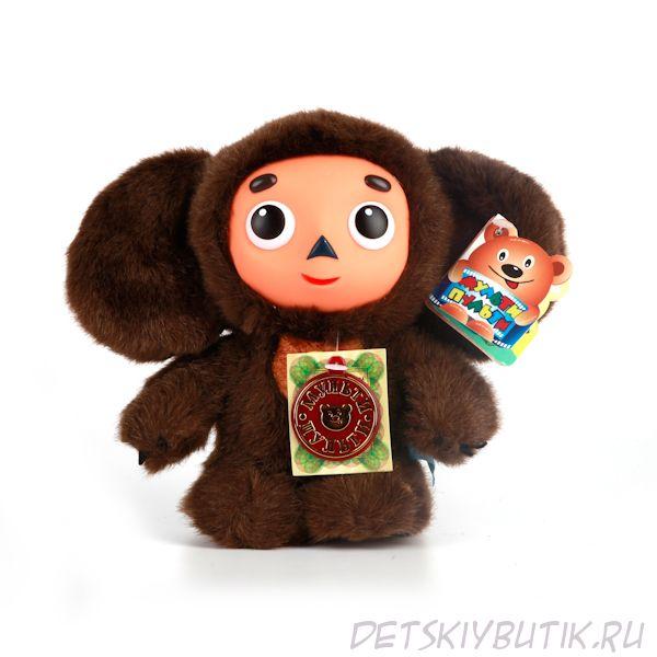 Озвученная мягкая игрушка Чебурашка, 17 см