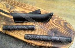 Филеровочная вилка в ножнах, для разделки рыбы