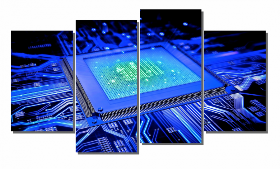 Модульная картина Квантовый процессор