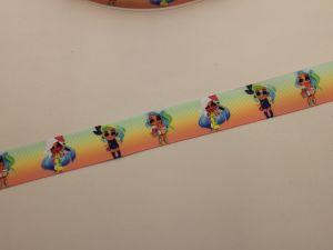 Лента репсовая с рисунком, ширина 25 мм, длина 10 метров, ЛР5748-18