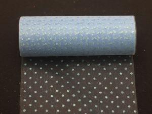 Фатин с люрексом, средняя жесткость, ширина 15 см, бобина 10 ярдов, цвет: Q13
