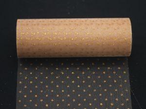 Фатин с люрексом, средняя жесткость, ширина 15 см, бобина 10 ярдов, цвет: Q19