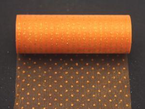 Фатин с люрексом, средняя жесткость, ширина 15 см, бобина 10 ярдов, цвет: Q20