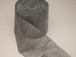 "Лента декоративная ""имитация страз"", ширина 12 см, длина 10 ярдов, цвет: 60 серый"