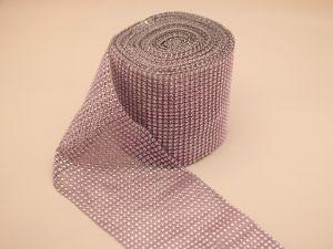 "Лента декоративная ""имитация страз"", ширина 12 см, длина 10 ярдов, цвет: 51 светло-розовый"