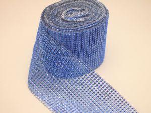 "Лента декоративная ""имитация страз"", ширина 12 см, длина 10 ярдов, цвет: 35 синий"