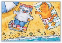 На пляжу