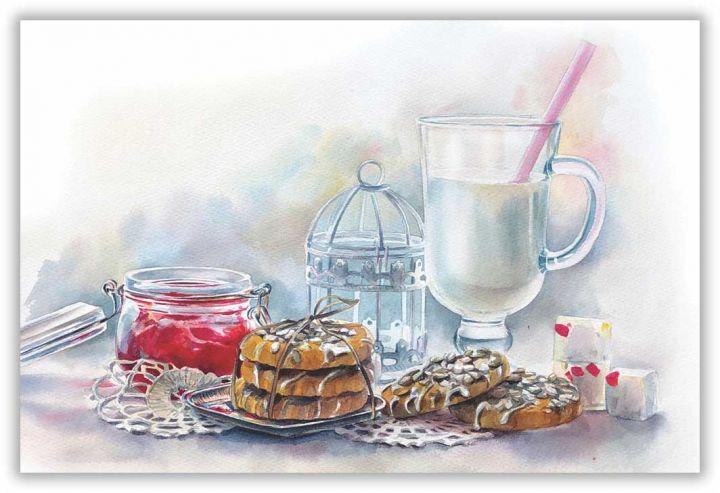 Молоко и джем