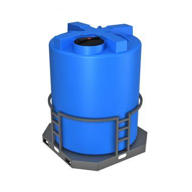 Емкость T 5000 синий с утеплением и поддоном