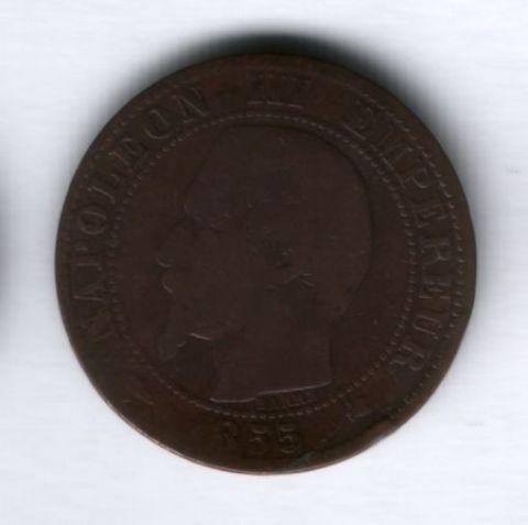 5 сантимов 1855 года K Франция