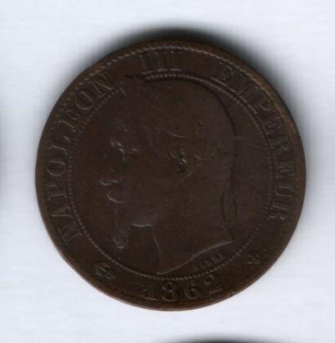 5 сантимов 1862 года BB Франция