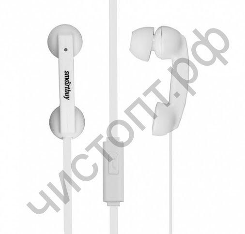 Гарнитура (науш.+микр.) для сотов. SmartBuy HELLO, белая вакуум (SBH-210) стиль телефонной трубки
