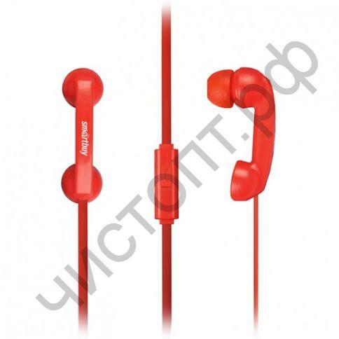 Гарнитура (науш.+микр.) для сотов. SmartBuy HELLO, красная вакуум (SBH-250) стиль телефонной трубки