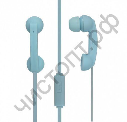 Гарнитура (науш.+микр.) для сотов. SmartBuy HELLO, синяя вакуум (SBH-220) стиль телефонной трубки