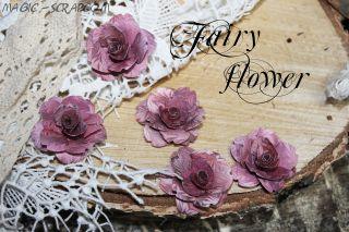 """Бумажные розы """"Розовый перелив"""""""