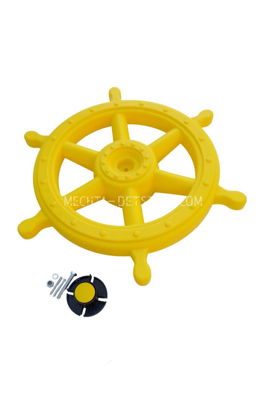 "Штурвал ""Шторм"" D 54 см жёлтый PS-318"