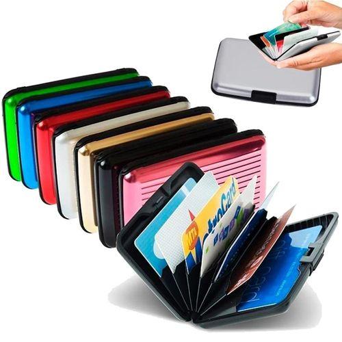 Бокс для кредитных карт Alluma Wallet (Security Credit Card Wallet): цвет – коричневый.
