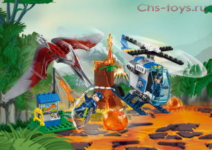 Конструктор Lari Динозавры Побег птеранодона 10918 (10756) 96 дет