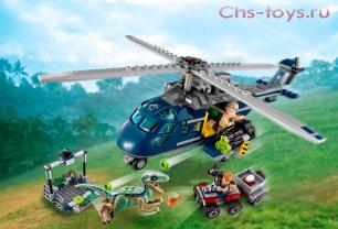 Конструктор Lari Динозавры Погоня за Блю на вертолёте 10925 (75928) 415 дет