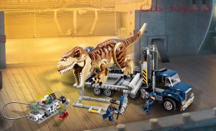 Конструктор Lari Динозавры Транспорт для перевозки Ти-Рекса 10927 (75933) 638 дет