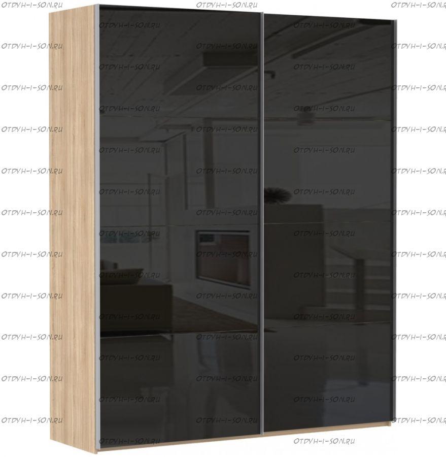 Шкаф-купе Эста, 2 двери, стекло черное
