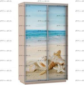 Шкаф-купе Экспресс Фото дуо, Море