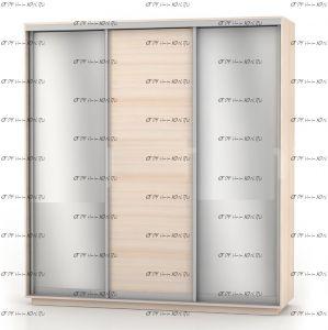 Шкаф-купе Экспресс Медиум трио, 3 двери, 2 зеркала