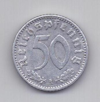 50 пфеннигов 1941 года XF Германия