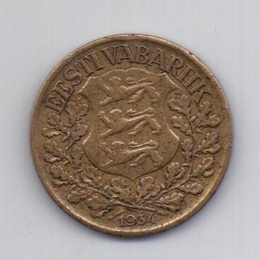 1 крона 1934 года Эстония