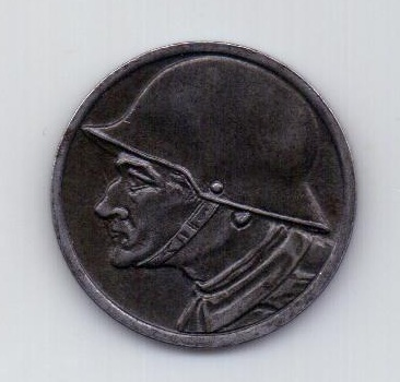 10 пфеннигов 1918 года AUNC Дюрен. Германия