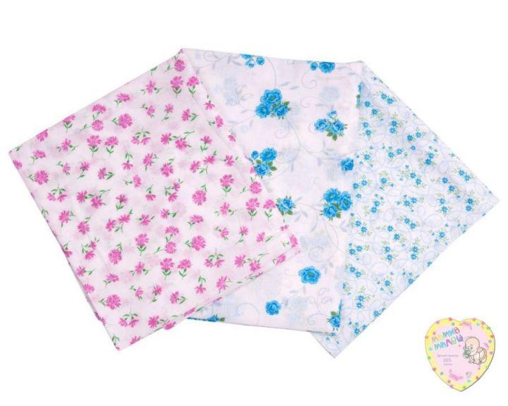 """Пеленки для новорожденных самые дешевые C-PE600-SI (ситец 110х85) код 0220 """"Мамин Малыш"""" оптом"""