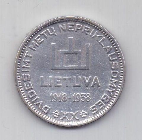 10 лит 1938 года AUNC Литва