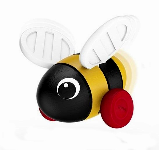 Деревянная  игрушка BRIO Пчёлка-каталка