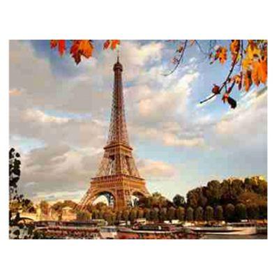 Роспись по холсту Париж.Эйфелева башня 30х40см