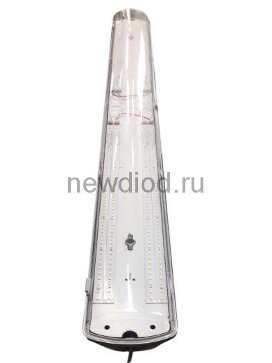 Светильник влагозащищенный SSP Transparent 75Вт-8600Лм 5000K 400Led 1265*120*90 IP65 Oreol