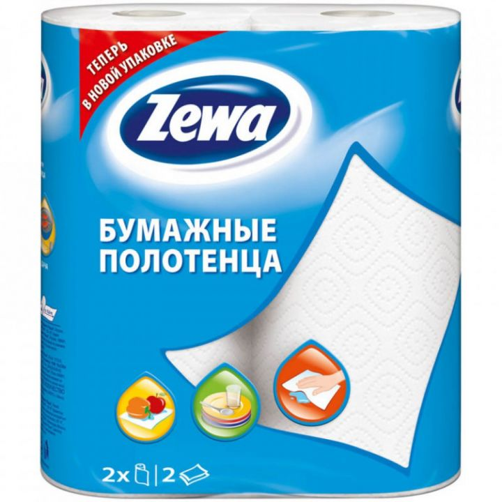 Полотенца бумажные Zewa 2шт втулка