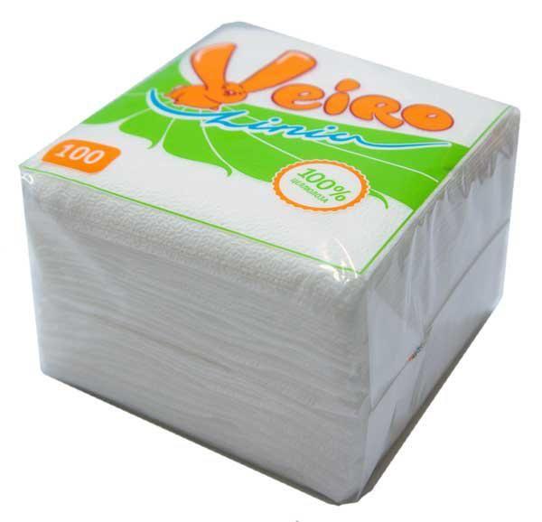 Салфетки Linia Veiro белые 100 лист.а5708