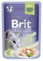 Brit Premium Pouch Для кошек 85гр Кусочки  филе форели в желе