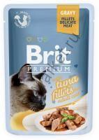 Brit Premium Pouch Для кошек 85гр Кусочки  филе тунца в соусе