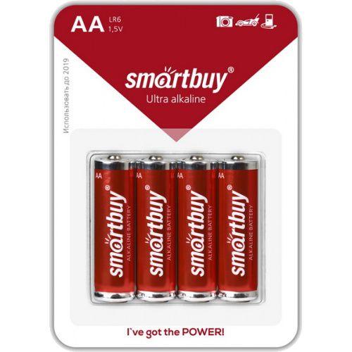Батарейка алкалиновая Smartbuy LR6/4B (48/480) (АА)