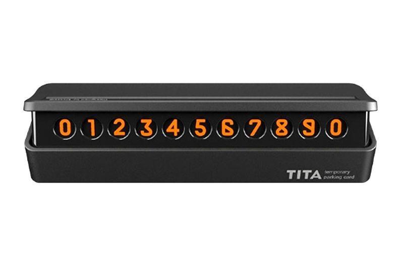 Табличка с номером телефона для авто Xiaomi Bcase TITA (Черный)